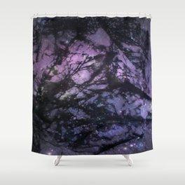 Night Sky (Monoprint) Shower Curtain