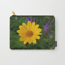 Prairie gold with lavender-violet companions 7489 Carry-All Pouch