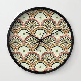 Scandi/boho pattern  Wall Clock