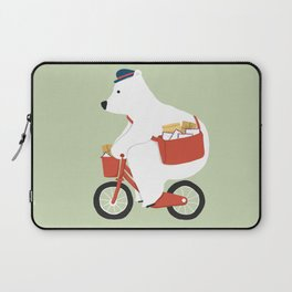 Polar bear postal express Laptop Sleeve