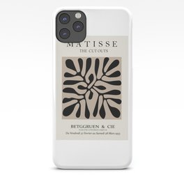 Henri matisse cut out blacka nd white flowers classic abstract, contemporary art iPhone Case