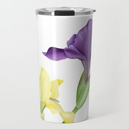 Watercolor irises Travel Mug