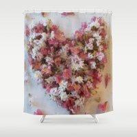 romance Shower Curtains featuring Romance by Gun Alfsdotter