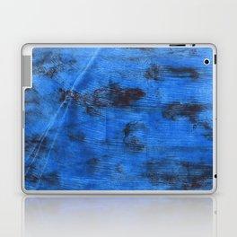 Bright navy blue abstract watercolor Laptop & iPad Skin
