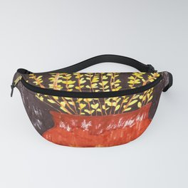 Forsythia in Amber Glass Fanny Pack