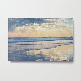 A Message From Above God Rays on Cayucos Beach Metal Print
