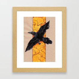 Crow 1 Framed Art Print