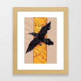 Crow 1 Framed Art Print