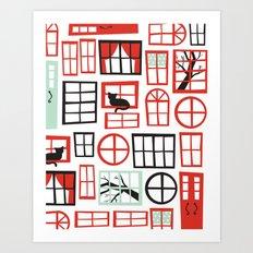 Doors and Windows Art Print