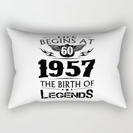 Life Begins At 60 1957 The Birth Of Legends Rectangular Pillow