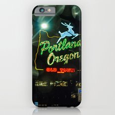 Old Town Sign and Raindrops Slim Case iPhone 6