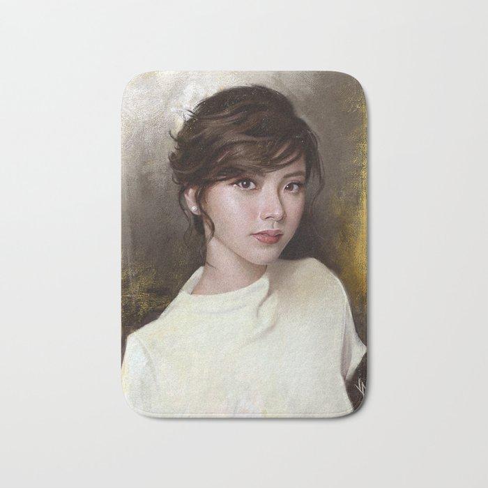 Portrait of Baifern Pimchanok Luevisadpaibul Bath Mat