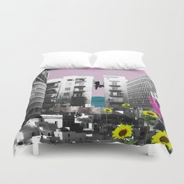 It's Hard To Go Down [When You're Up.] Duvet Cover