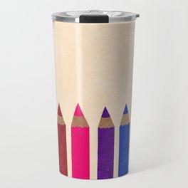 rainbow pencils Travel Mug