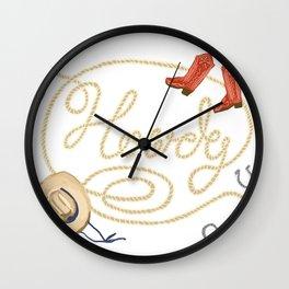 Howdy! Wall Clock