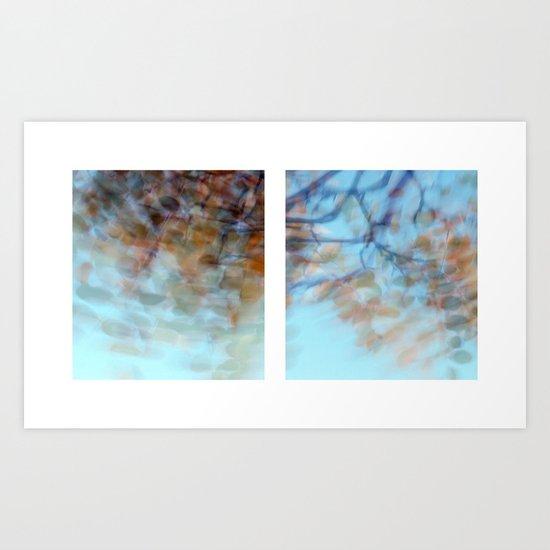 Autumn Impressions #3 - Diptych Art Print