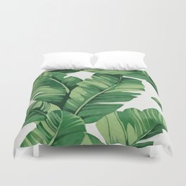 Tropical banana leaves Duvet Cover