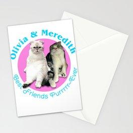 Olivia & Meredith Best Friends Purrr-Ever Original T-shirt Stationery Cards