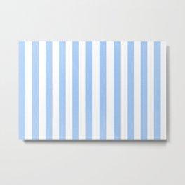 Blue light textured Vertical Lines Metal Print