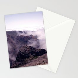 Mountain view in de clouds Stationery Cards