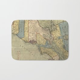 Vintage Discovery Map of The Americas (1771) Bath Mat