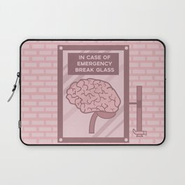 In case of emergency break glass Laptop Sleeve