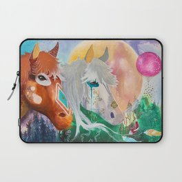 You and me - Horses - Animal - by LiliFlore Laptop Sleeve