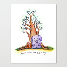 Root of Being Canvas Print