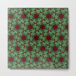 Holiday Wreathes of Ivy Metal Print