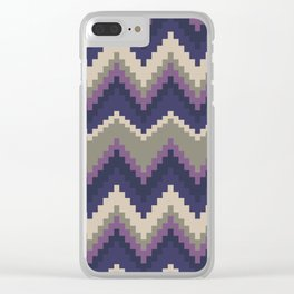 Jagged Violet Clear iPhone Case