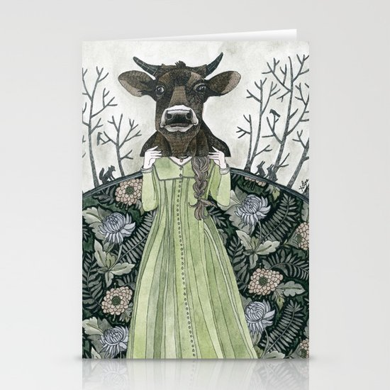 Cow Mask Stationery Cards