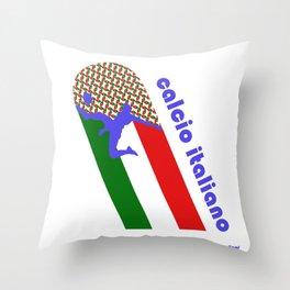 Calcio Italiano Throw Pillow