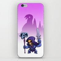 skeletor iPhone & iPod Skins featuring Little Skeletor by Rico Marcano