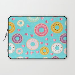 hearts and donuts blue Laptop Sleeve