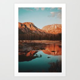 reflection in gold Art Print