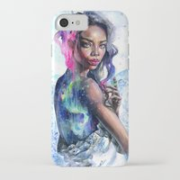 northern lights iPhone & iPod Cases featuring Northern Lights by Tanya Shatseva