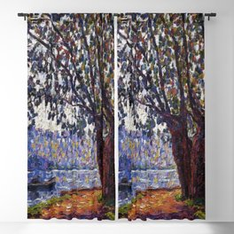 Sunlight on the Banks of the Loing French autumn landscape by Francis Picabia Blackout Curtain