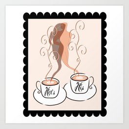 His and Hers Coffee Art Print