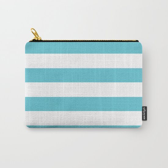 Simply Stripes in Seaside Blue Carry-All Pouch