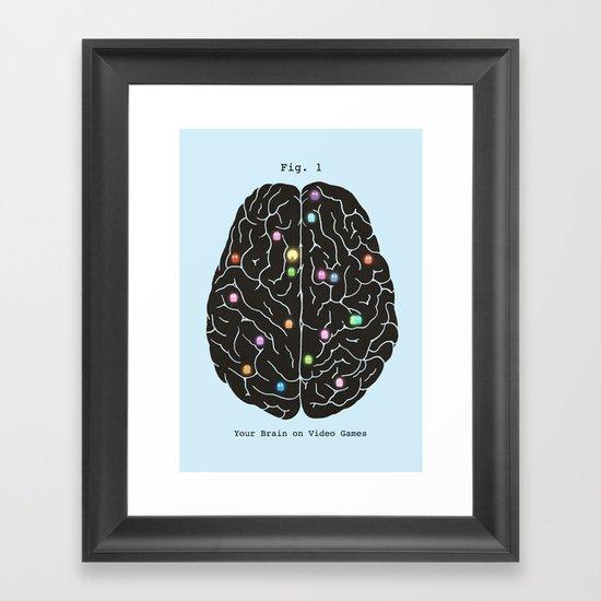 Your Brain On Video Games Framed Art Print