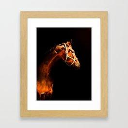 Horse Wall Art, Horse Portrait Over a Black background, Horse Photography, Closeup Horse Head Framed Art Print