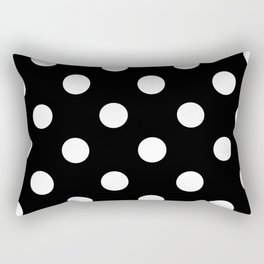 Polkadot (White & Black Pattern) Rectangular Pillow