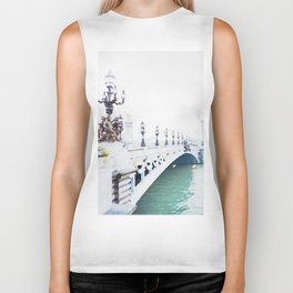 Pont Alexandre III Paris Bridge Watercolor Biker Tank
