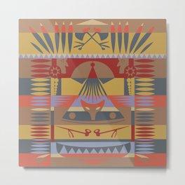 American Native Pattern No. 116 Metal Print