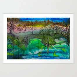 A Walk with Trees Art Print