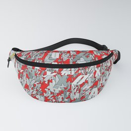 The letter matrix RED Fanny Pack