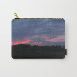 Purple and Pink Sunset Carry-All Pouch