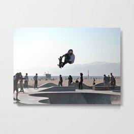 Air Over Santa Monica Skate Park Metal Print