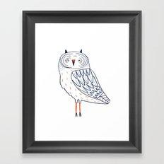 Snow Owl. Framed Art Print