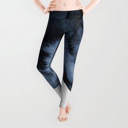 Watercolor Splash in Blue Leggings